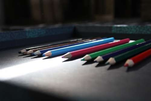 Pencil Color Colorful Design Drawing Pencils Wood