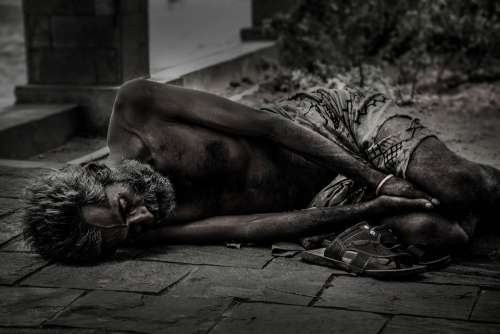 People Homeless Male Poverty Social Person