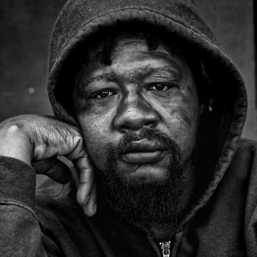 People Portrait Homeless Male Gaze Poor