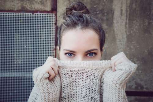 People Woman Girl Clothing Eye Knitted Sweater