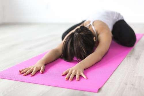 People Woman Yoga Meditation Fitness Health