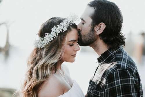 People Man Woman Couple Love Kiss Intimate