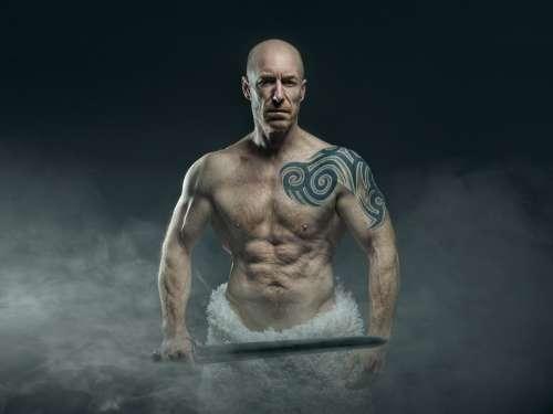 People Man Adult Naked Athlete Sculpture Art