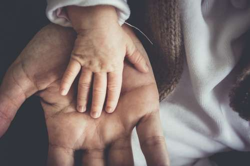 People Man Adult Hands Child Toddler Father