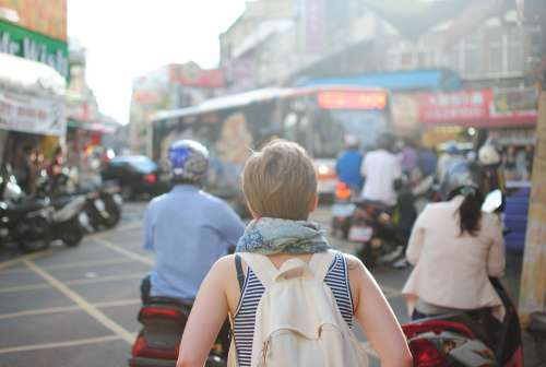 People City Person Urban Woman Travel Tourist