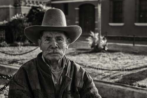 People Guatemala Man Black And White Garden