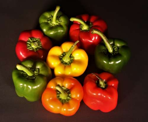 Peppers Colour Vegetables Healthy Salad Spice