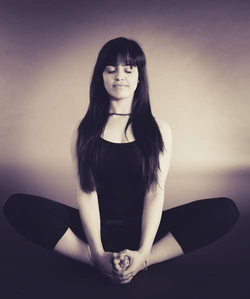 Person Woman Relaxation Relaxing Yoga Meditation