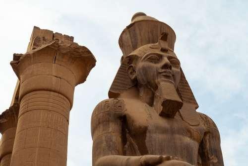 Pharaoh Egypt Statue Sphinx Luxor History