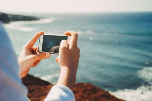 Phone Phone Camera Camera Scenery Ocean Waves