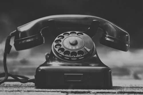 Phone Old Year Built 1955 Bakelite Post Dial