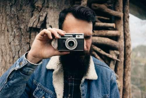 Photographer Camera Beard Lens Photos Photography