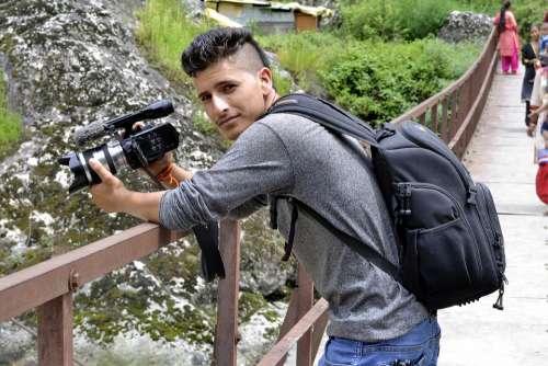 Photographer Male Camera Man Journalist