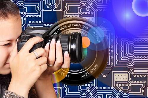 Photographer Girl Camera Digital Photography Lens