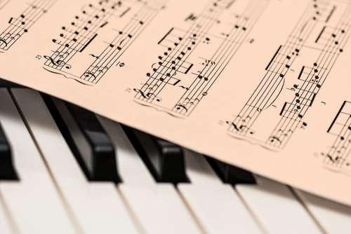 Piano Music Score Music Sheet Keyboard Piano Keys