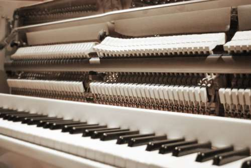 Piano Open Keys Sepia Music Instrument Acoustic