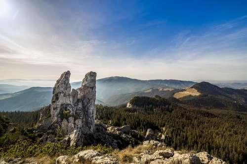 Pietrele Doamnei Landscape Hills Outdoors Rocks