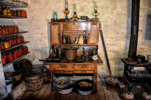 Pioneer Kitchen Settlers Early America Building Usa