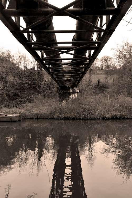 Pipe Bridge Architecture Steel Antique Viaduct