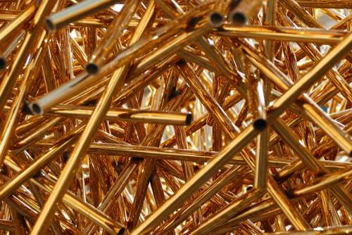 Pipes Brass Tube Art Gold Metal