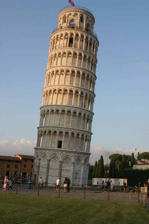Pisa Tower Tuscany Italy Architecture