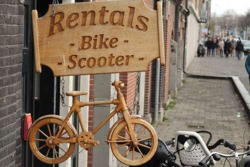 Plate Bike Rental Original Wood City Urban Rental