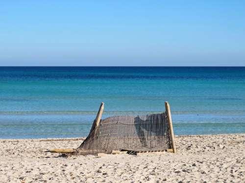 Playa De Muro Mallorca Beach Sea Summer Loneliness