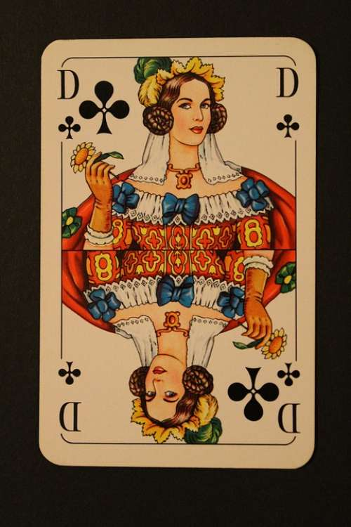 Playing Card Skat Cards Cross Lady Card Game Play