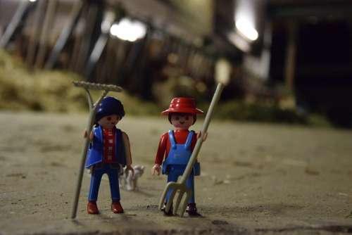 Playmobil Bauer Farmer Figures Agriculture Toys