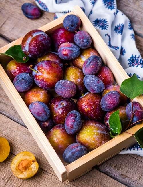 Plum Box Fruit Vitamins Garden Food