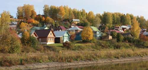 Plyos Volga Village Autumn