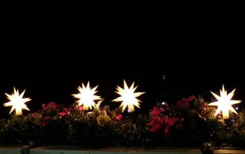 Poinsettia Shining Christmas Time Ornament