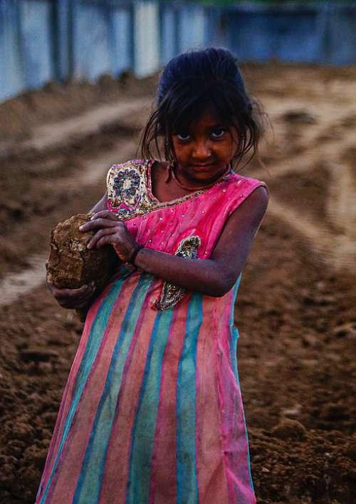 Poor Kid La Poverty Child People Homeless India
