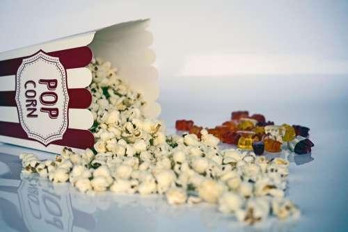 Popcorn Snack Cinema Food Tasty Salty Delicious