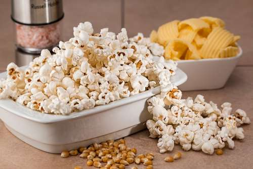 Popcorn Snack Salty Food Eat Tasty White Corn