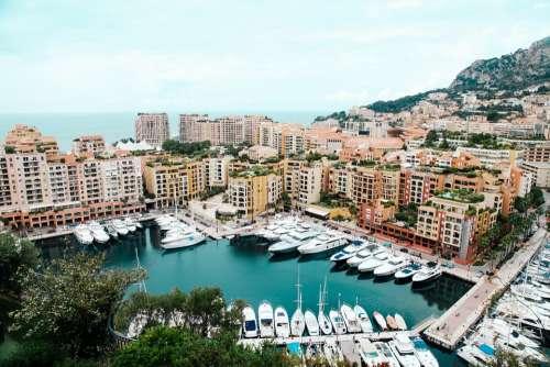 Port Monaco Luxury Mediterranean City Europe View