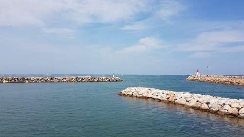 Port Ocean Sea Canet-En-Roussillon Water Ship