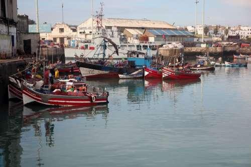 Port Casablanca Morocco Boat Maritime Workshops