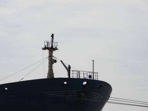 Port Hamburg Ship Bug Old Black White