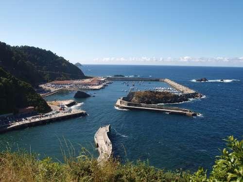 Port Cudillero Asturias Sea