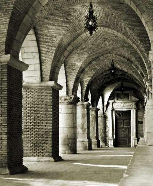 Portico Church Santa Maria Maggiore Italy