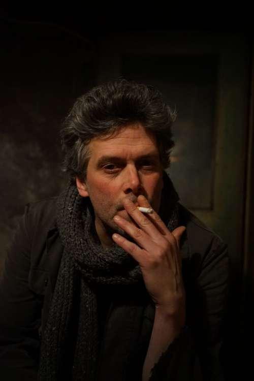Portrait Male Smoking Cigarette Indoor Man Smoke