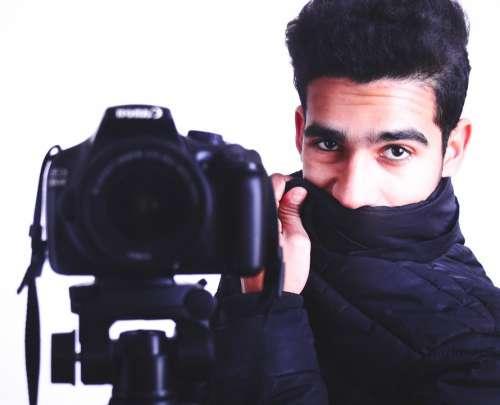 Portrait Camera Photographer Boy Camera Man Artist