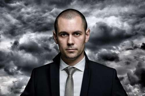 Portrait Suit Tie Shirt Business Man