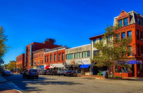 Portsmouth New Hampshire America City Urban Town