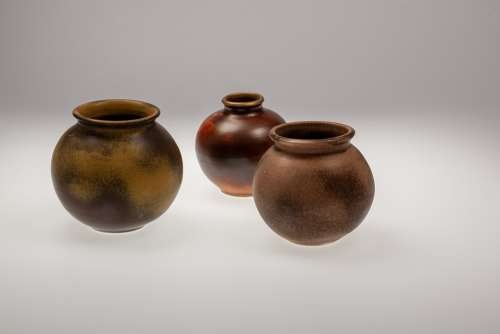 Pots Sound Pottery Tonkunst Ceramic Reddish Craft