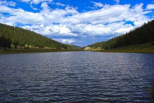 Poudre Lake Lake Sky Mountains Milner Pass Rocky