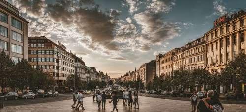 Prague Wenceslas Square Architecture Facade Capital