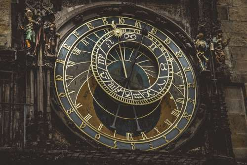 Prague Clock Architecture Time City Zodiac