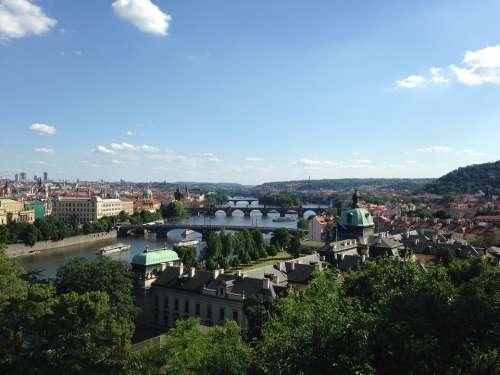 Prague Vltava Bridges River City